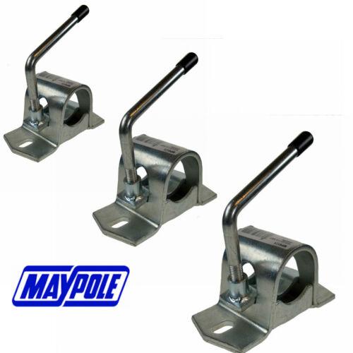 Maypole Jockey Wheel CLAMPS 34 42 48 mm Ø Trailer Caravan Boat Flat Bed Trailer