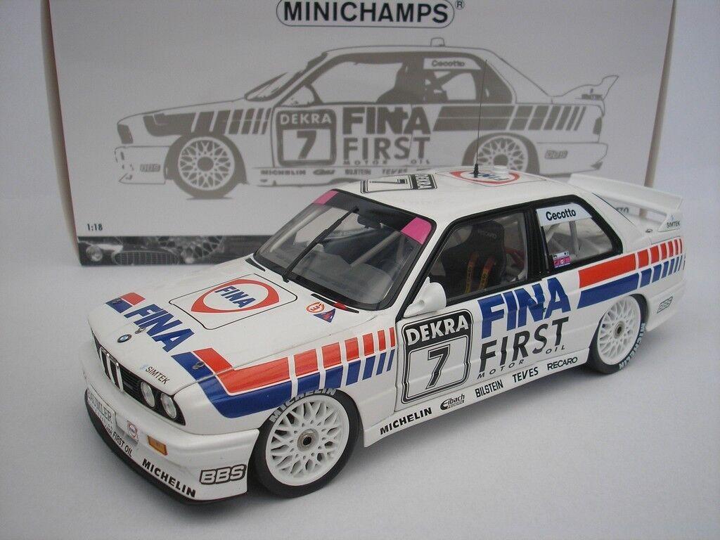 BMW M3 DTM 1992 J.Cecotto Double Winner Brno 1 18 Minichamps 180922007 NEW