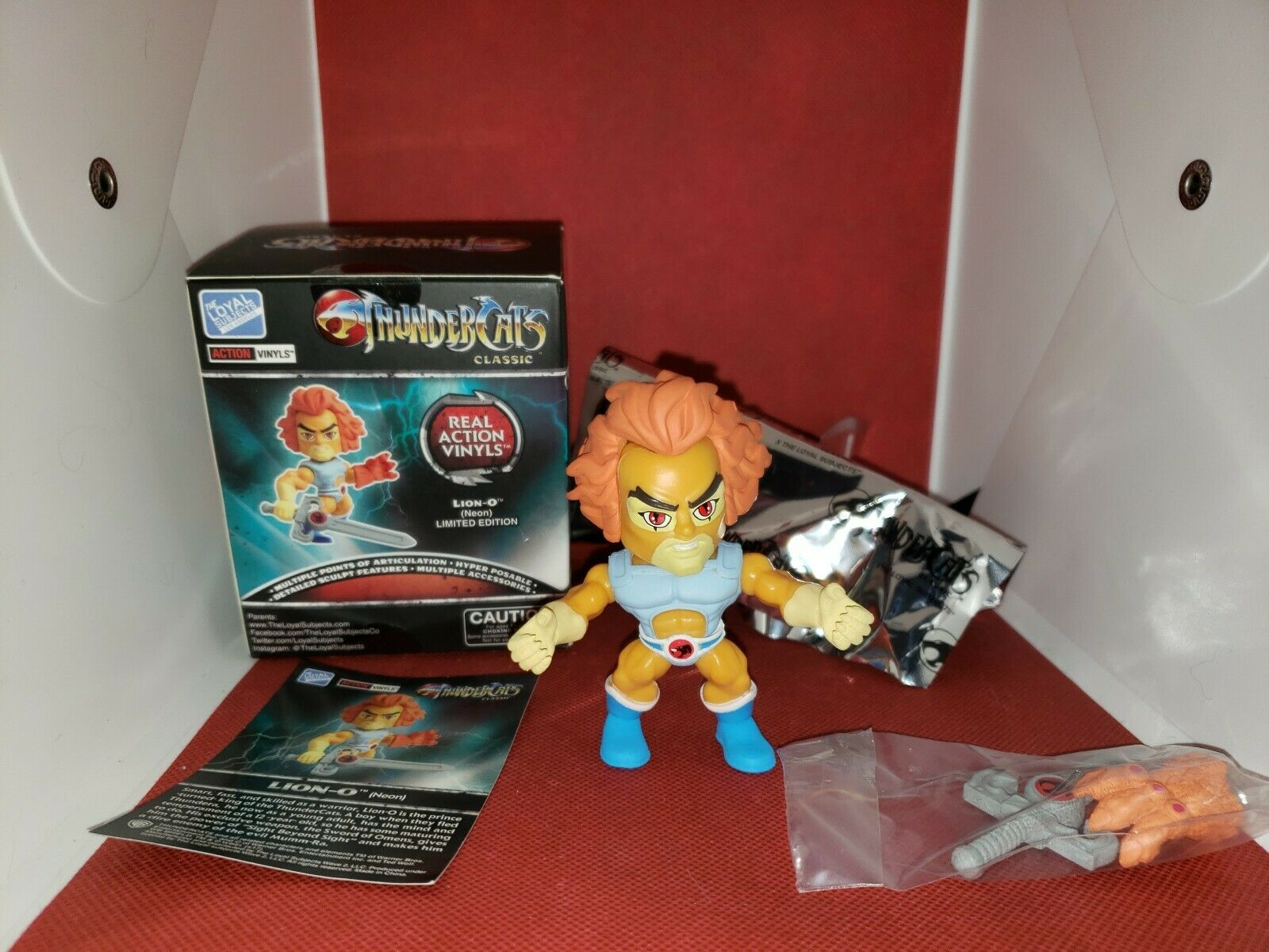 Loyal Subjects Thundercats Mini Action Figure Lion-O BRAND NEW!!! Neon