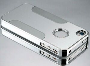 Luxury Chrome silver hard Cell phone case cover for Iphone 4s A1387 ATT Verizon