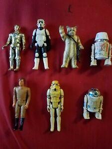 Original Star Wars & BSG Vintage Figure Lot 1977-1983 - Kenner Universal Studios