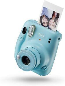 FUJII INSTAX MINI 11 FOTOCAMERA ISTANTANEA 46X62mm COLORE AZZURRO SKY BLUE