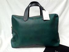 BNWT Genuine Paul Smith Mainline V-Base Folio Bag (RRP £799) Green Calf Leather