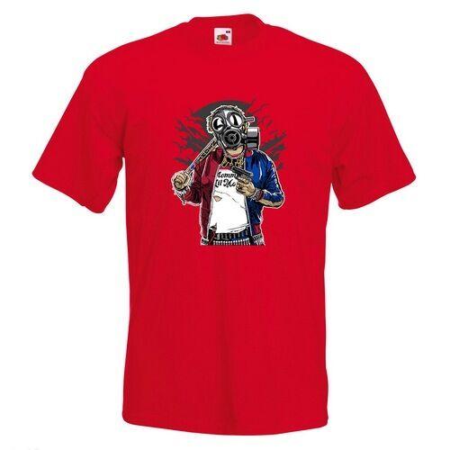 Suicide masque gaz Homme T-shirt imprimé Squad Veste Nuages Lune Gun chauve-souris