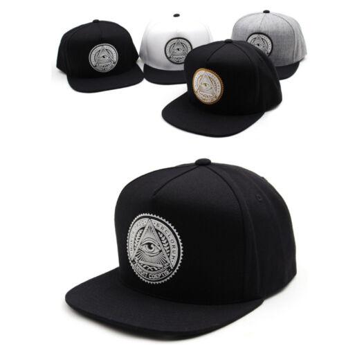Unisex Mens Womens Illuminati Eye Premier Snapback Baseball Cap Hip-hop Hats