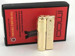 IMCO-Super-Triplex-mit-Logo-neu-ovp-Messing-poliert-brass-Feuerzeug-Box