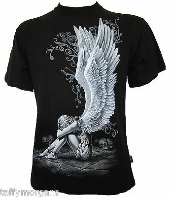Enslaved angel t shirt spiral goth fantasy tattoo - in black - stunning!