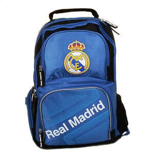Image Is Loading Real Madrid School Bag Backpack Boys Kids Licensed