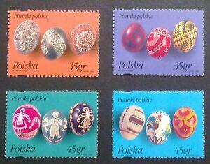 POLAND STAMPS MNH Fi3378-81 Sc3227-30 Mi3526-29 - Easter eggs, 1995, ** - Reda, Polska - POLAND STAMPS MNH Fi3378-81 Sc3227-30 Mi3526-29 - Easter eggs, 1995, ** - Reda, Polska