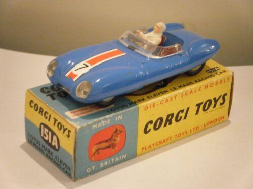 Corgi 151 Lotus XI race number #7 decal only pre-cut
