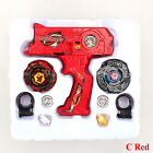 4D Beyblade Metal Masters Fusion Top Fight Rare Rotate Grip Launcher Battle Set