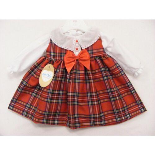 LAST ONES REDUCED Kinder Red Tartan Pinifore Dress //Blouse