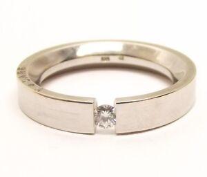 Image Is Loading 14k White Gold Volare Diamond Ring Sz 7