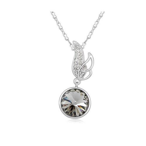 DEPOT TRESOR Collier plaqué or avec pendentif de Cristal Swarovski element NEUF