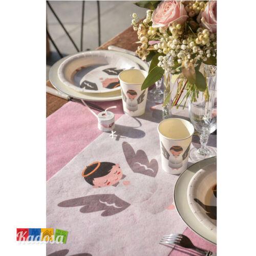 Tovaglia Runner ANGELI cresima comunione nascita festa buffet tavola party angel