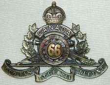 C.E.F. 66th Overseas Field Battery (MONTREAL) Cap Badge 12-66