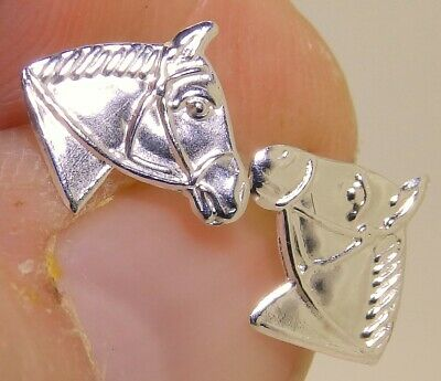 Sterling silver//925//CZ//horse//horse shoe//equestrian//stud//earrings//boxed