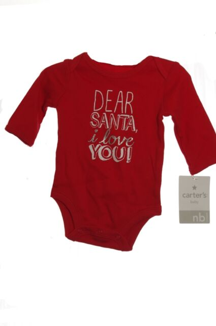 a7406c7be Carter s Newborn 1pc Christmas Dear Santa I Love You LS Snap Bottom ...