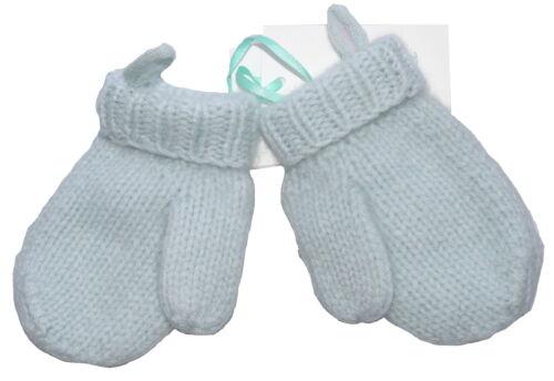 Marie Chantal 100/% Cashmere Baby Blue De Mitones 6-12 Meses Nuevo Con Etiquetas Sp £ 33