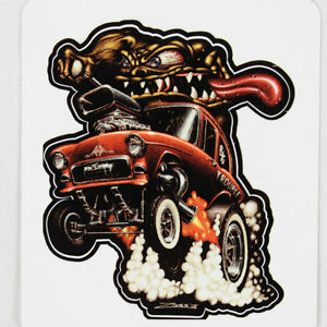 zombie hot rod wear 55 chevy monster custom muscle car aufkleber