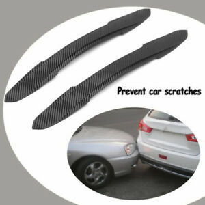 New-2X-Car-Rubber-Front-Rear-Bumper-Edge-Guard-Protector-Scratch-Sticker-Strips