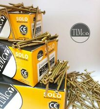 FULL CASES OF 8g 4mm PROFESSIONAL TIMCO YELLOW WOOD SCREWS POZI COUNTERSUNK