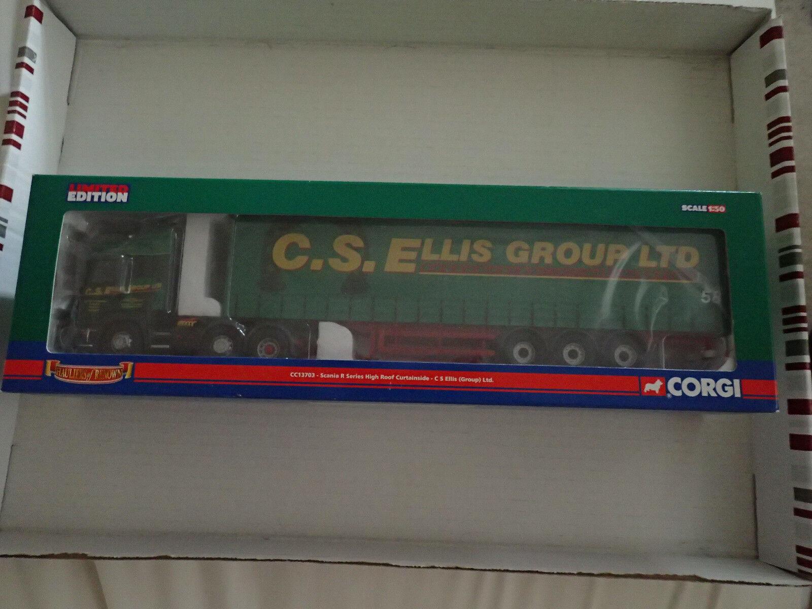 Corgi 1 50 CC13703 Scania R Series Curtainside C S Ellis Decert Untouched