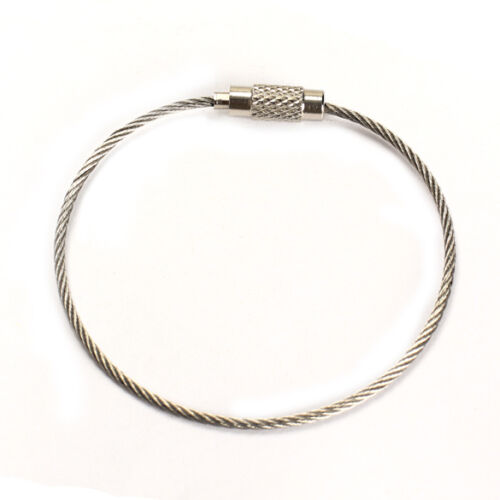 5//10//20Pcs New Stainless Steel Wire Keychain Cable Key Ring for Outdoor Hiking
