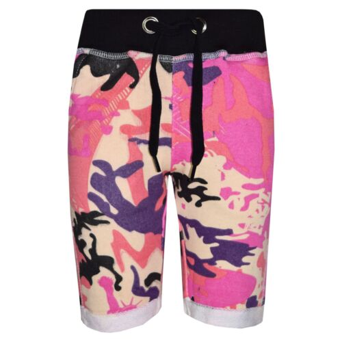 Kids Girls Boys Shorts Fleece Camouflage Chino Short Knee Length Half Pant 3-13Y