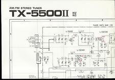 Original Factory Pioneer TX-5500II KU KC AM/FM Stereo Tuner Schematic Diagram