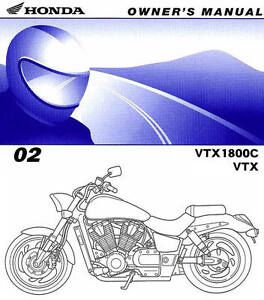 2002 honda vtx1800c motorcycle owners manual vtx 1800 c. Black Bedroom Furniture Sets. Home Design Ideas