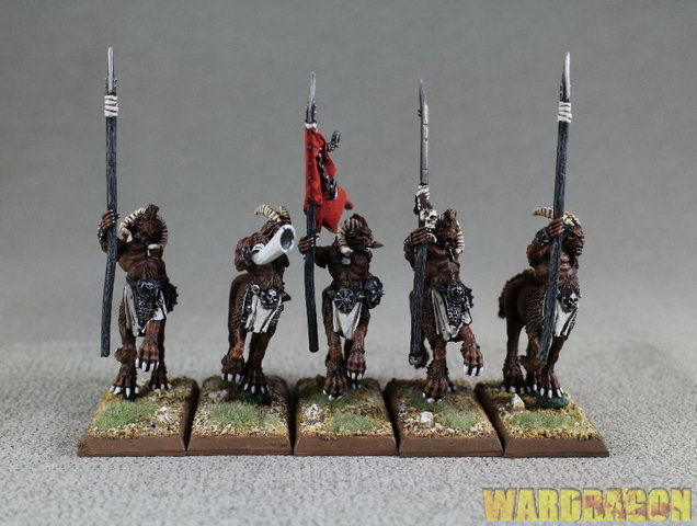 per poco costoso 25mm Warhammer WDS painted painted painted Beastmen Centigor Herd t55  compra meglio
