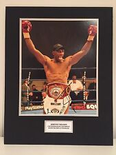 RARE Johnny Nelson Boxing Signed Photo Display + COA AUTOGRAPH