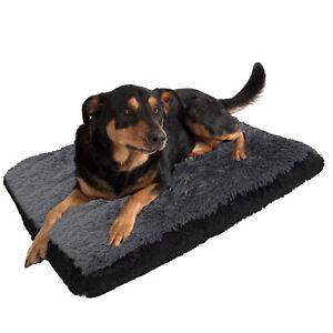 Dog-amp-Cat-Pet-Bed-Bolster-Foam-Deluxe-Bedding-Cuddler-Fluffy-Pillow-Large-Black