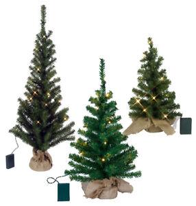LED-Weihnachtsbaum-versch-Groessen-im-Jutesack-Batteriebetrieb-Timer-Tannenbaum