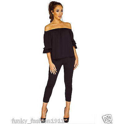 Womens Megan McKenna Inspired Frill Off Shoulder Lounge Wear Tracksuit Set