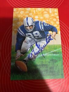 Gino Marchetti Autographed Signed Goal Line Art Colts
