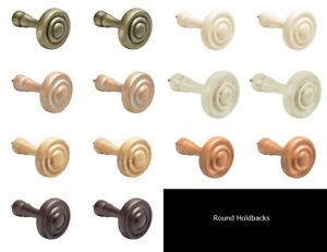Details About Integra Woodworks 2 X Wooden Curtain Holdbacks Round Small Or Large 7 Colours