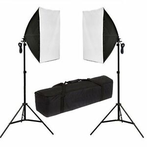 Photography-Studio-2x135W-Soft-Box-Continuous-Lighting-Softbox-Light-Stand-Kit