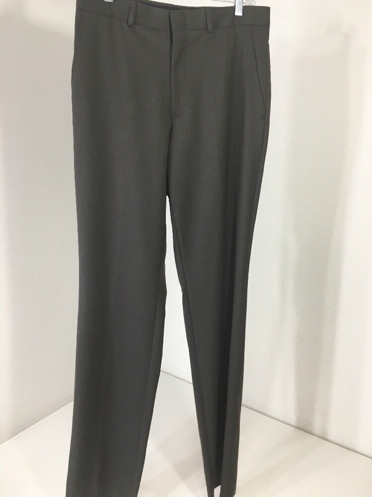 Men's Kenneth Cole Dress Trousers Size 32 100% Wool  LT Brown NWT