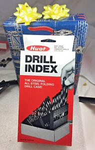 LastCut-29-PC-Black-Oxide-Jobber-HSS-drill-set-Huot-Case-Metal-Cutting-118-Point
