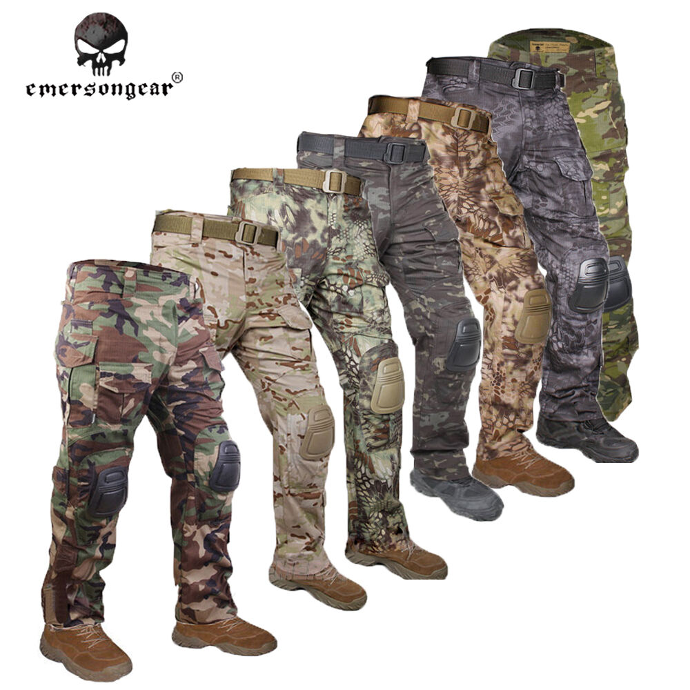 EMERSON G3 Combat Pants w  Knee Pads Paintball Airsoft Hunting Trousers Gear