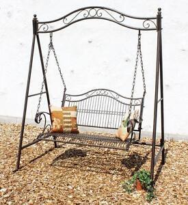 Banc à bascule en métal banc de jardin banc banc de jardin balançoire balançoire hängebank