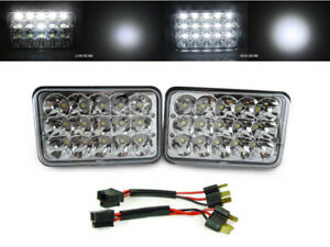 Full LED High+Low H4666 4x6 Headlight +Wire Adapter For 90 ...  Eclipse Wiring Harness on eclipse engine, eclipse wheels, eclipse radio, eclipse transmission harness,