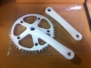 Alloy Single Speed Mountain Road Bike Crankset Chainwheel 46T 170mm Fit Crank