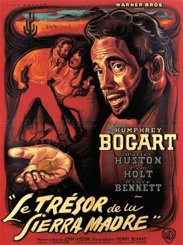 FILM MOVIE BOGART TREASURE FRENCH TRESOR SIERRA MADRE ART POSTER PRINT LV1597