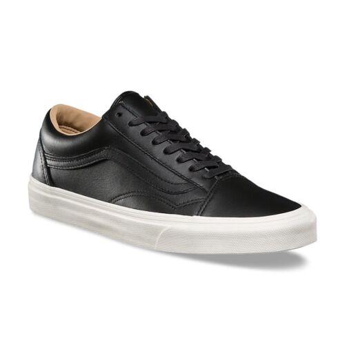 Porcini zapatillas de Lux negro Leather Old Vans Skool deporte nwxf6IqH