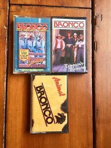 3 X Bronco cassette tapes bundle Mexican Grupero band Latin music rare