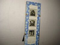 hallmark Picture Frame-holds 3-1 1/2 Pics. Pretty Floral Design-new-stands