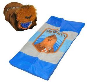 Image Is Loading Star Wars Sleeping Bag Chewbacca 2pc Disney Figural